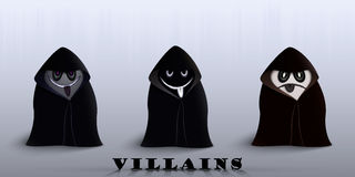 The villains in capes Royalty Free Stock Photography