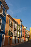 Villajoyosa multicolored houses, Spain Stock Images