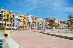 Villajoyosa town Stock Image