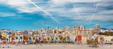 Free Villajoyosa Townscape Aerial Panoramic Image. Spain Royalty Free Stock Photos - 210106698