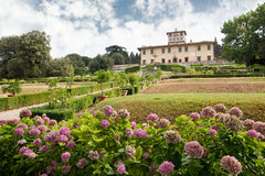 Villala Petraia, eens woonplaats van Medici-familie royalty-vrije stock afbeelding