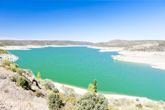Villalcampo dam Royalty Free Stock Images