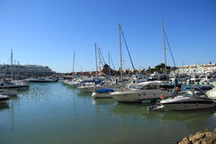Villamoura Marina in Algarve Stock Images