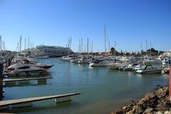 Villamourajachthaven in Algarve Stock Fotografie