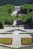 Villan Carlotta arbeta i trädgården på sjön Como Arkivbilder