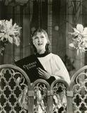 Villancicos de la Navidad del canto Fotos de archivo libres de regalías