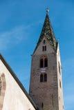 VILLANDERS, SÜD-TYROL/ITALY - 27. MÄRZ: Belfry der Gemeinde Lizenzfreie Stockfotografie