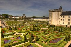 Villandre french castle Royalty Free Stock Photo