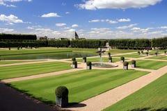 Villandry城堡庭院 免版税图库摄影