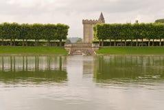 villandry大别墅的池塘 库存照片