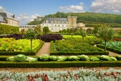Villandry大别墅的,法国庭院 免版税图库摄影