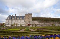 Villandry. Castle of Villandry in Loire, France Royalty Free Stock Images