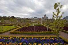 Villandry. Castle of Villandry in Loire, France Stock Photography