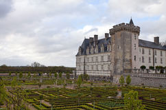 Villandry. Castle of Villandry in Loire, France Royalty Free Stock Photos