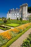 Villandry Castle. With garden, Indre-et-Loire, Centre, France Royalty Free Stock Images