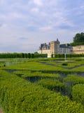 Villandry Castle. Beautiful view of the Villandry Castle in Loire Valley Royalty Free Stock Photo