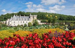 Villandry castle in bloom royalty free stock image
