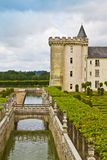 Villandry Castle (Chateau) and gardens. Stock Images