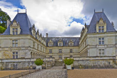 Villandry Castle (Chateau) and gardens. Royalty Free Stock Image