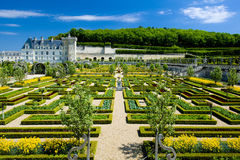 Villandry Castle with garden Stock Images