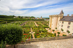 Villandry castle and garden Royalty Free Stock Photos