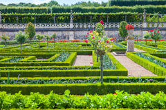 Villandry castle and garden Royalty Free Stock Images