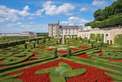 Villandry castle and gardens in August Stock Photos