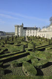 Villandry castle and its garden Stock Image