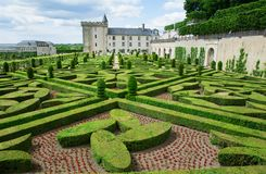 Villandry castle, Loire valley, France Royalty Free Stock Images
