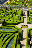 Villandry Castle's garden Royalty Free Stock Photo