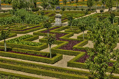 Villandry castle in Val de Loire Stock Image