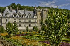 Villandry castle in Val de Loire Royalty Free Stock Images