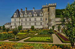 Villandry castle in Val de Loire Stock Photos