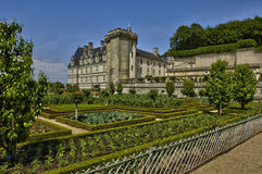 Villandry castle in Val de Loire Royalty Free Stock Image