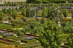 Villandry castle in Val de Loire Stock Images