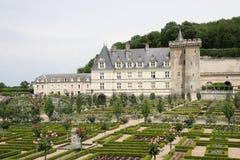 villandry chateau de Royaltyfri Bild