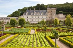Villandry Chateau in France Royalty Free Stock Image