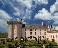Villandry chateau and its garden, France Royalty Free Stock Photo