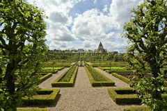 Villandry chateau and its garden,France Stock Image