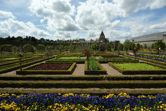 Villandry chateau and its garden, Loire Valley, France Stock Image