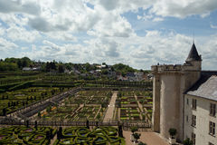 Villandry chateau and its garden, Loire Valley, France Royalty Free Stock Photo