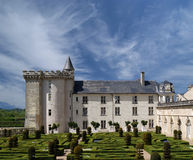 Villandry chateau and its garden, Loire Valley, France Stock Images