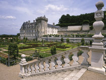 Villandry Chateau - Loire Valley - France. Villandry Chateau near the town of Tours in The Loire Valley region of France Royalty Free Stock Images