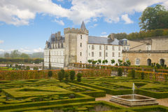Villandry chateau in the Loire Valley,  France Royalty Free Stock Photography