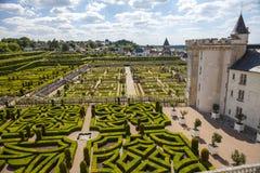 Villandry Chateau - Loire Valley - Frankrike Arkivfoto