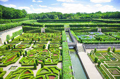 Villandry gardens Stock Photo