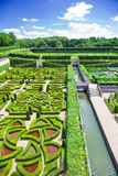 Villandry gardens. Amazing gardens from Villandry chateau, France Stock Photos