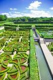 Villandry gardens stock photos