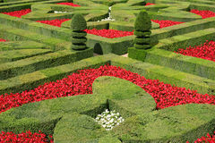 Villandry gardens, France Stock Photography