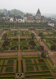 Villandry Gardens in Loire Valley of France Royalty Free Stock Image